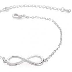 Zilverkleurige Armband Infinity